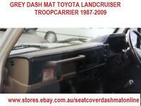 DASH MAT,DASHMAT, DASHBORD COVER TOYOTA LANDCRUISER,TROOPCARRIER 1987-2009, GREY