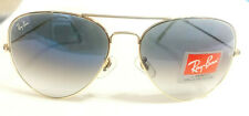 Ray-Ban RB3026 Aviator Large Sunglasses Gold/Blue Gradient New w/case Authentic