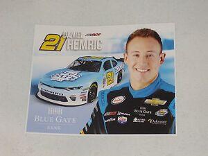 2017 DANIEL HEMRIC #21 BLUE GATE BANK NASCAR POSTCARD