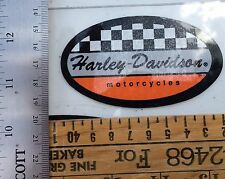 Harley-Davidson Checkered Racing Inside Window Decal. Vintage. 2 X 3.5. New!!!