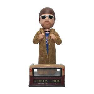 Chris Long Philadelphia Eagles Fur Coat Parade Super Bowl Bobblehead NFL