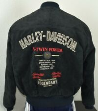 Harley Davidson SMALL Leather Jacket Bomber Vtg Suede Classic Power 98110-95VX