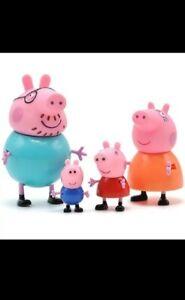4 Peppa Pig Figuren Schweine Familie George Wutz Mama Papa
