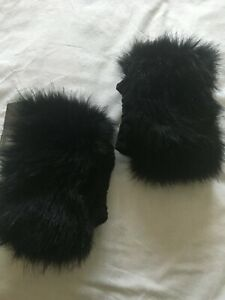 HOTTER FUR BOOT TOPPERS NIKA BLACK SYNTHETIC
