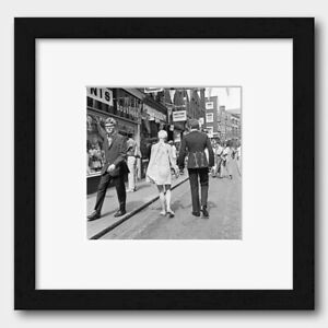 Carnaby Street in London England July 1967 Print Black Frame White 40 x 40