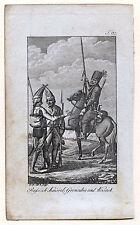 RUSSLAND Militaria Kupferstich Grenadier und Kosak 1780 Original!