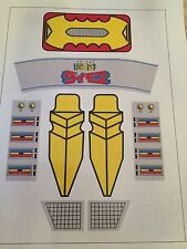 Repro Stickers - Daimos Jumbo Machinder Shogun Warrior - VINYL