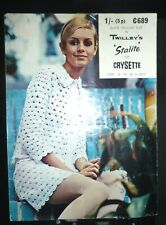 ORIGINAL VINTAGE TWIGGY 1960/1970s CROCHET SUIT IN TWILLEY'S STALITE OR CRYSETTE