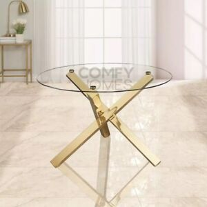 Glass Top Round Capri Dining Table - FREE DELIVERY AVAILABLE!