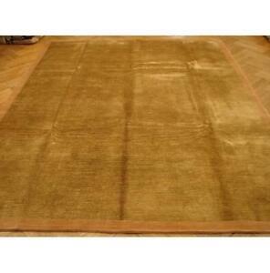 8x10 Handmade Wool&Silk Nepalese Golden Rug PIX-13737