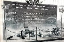 Walter A Wood FARM EQUIPMENT MANUFACTURER 1867 HOOSICK FALLS NY Engraving Print