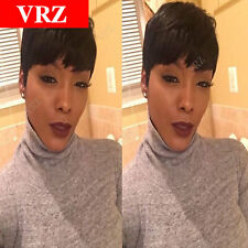 Human Hair Wigs VRZ Celebrity Cheap Pixie Cut Brazilian Hair Very Short Wigs