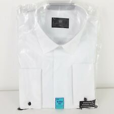"M&S MARKS AND SPENCER MENS FORMAL SHIRT LONG SLEEVE WHITE SIZE 15.5"" COLLAR NEW"