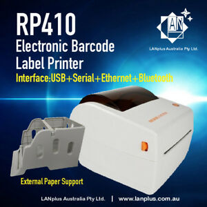 """RP410 4"""" Thermal Barcode Label Printer w USB Network bluetooth Paper Roll holder"""