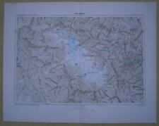 1883 Reclus map KASHMIR VALLEY, INDIA (#1)