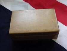 "Light wooden box (approx size 7"" X 4 1/2"" X 2"")"