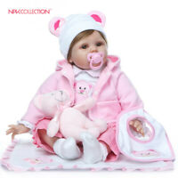 "22"" Realistic Girl Reborn Dolls Baby Newborn Lifelike Silicone Vinyl Kids Gift"