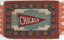 Large 1900 Tobacco Felt with Pennant for Chicago University
