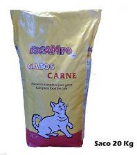 Saco 20 Kg de pienso para gatos DOCAMPO, comida sabor carne