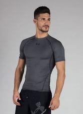 Under Armour Uomo Camicia compressione UA HeatGear Armatura Shortsleeve Grigio M