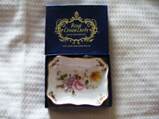Royal   Crown   Derby   Posy   /   Pin   Dish   New   &    Boxed  Length  3.3/4""