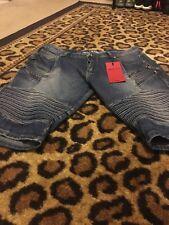 Trillnation Men's Blue Denim Jean Shorts Sz 36 Clothes