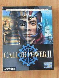 Call to Power 2 II PC Big Box Computer Game IBM Windows Rare Complete CD-Rom