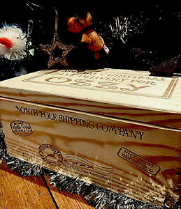Personalised Christmas Eve Box Engraved Solid Wood  Christmas Eve Box, Xmas Box
