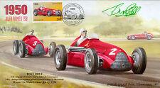 1950c ALFA ROMEO 158s SILVERSTONE F1 cover  signed POW TONY ROLT MC* Colditz POW