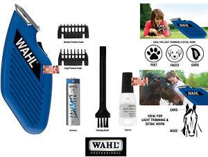 WAHL Cordless Pocket Mini PET HORSE CAT DOG TRIMMER/Clipper Set-Blade,Guide Comb