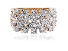 Pave 2,16 Cts Natürliche Diamanten Verlobungsring In Zertifizierten 14K Gelbgold