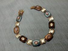 Pretty  artisan Holly Yashi multi stones niobium gold filled bracelet