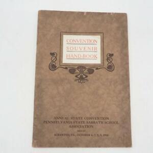 Antique Program Pennsylvania Sabbath School State Convention 1914