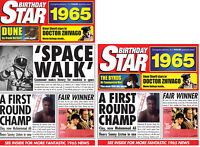 1965 BIRTHDAY Star Gift Set - 1965 DVD Film , Music CD and Year Greetings Cards