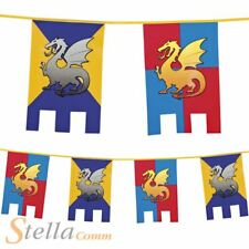 Knights & Dragons 6m Bunting Medieval Castle Fancy Dress Party Decoration