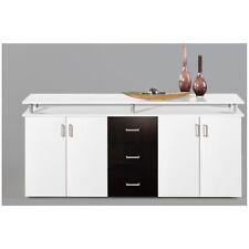 Kommode Sideboard Beistellkommode Lift  weiß / schwarz  ca. 180 cm breit