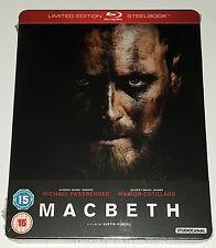 MacBeth - Limited Edtion Steelbook (Michael Fassbender) Blu-Ray New Sealed