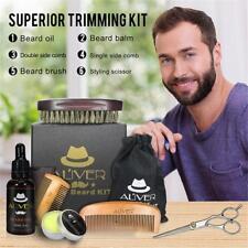 Pro Beard Oil Balm Comb Brush Beard Care Kit Mustache Grooming Comb Set for Men