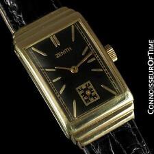 1940's ZENITH Vintage Mens Dress Watch - 14K Gold