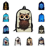 Women Girls Travel Satchel Backpack/Owl Cat Rucksack Shoulder Bookbag School Ba