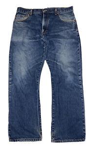 Levi's 517 Men's Bootcut Red Tab Dark Blue Denim Jeans Size 36 X 30