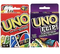 Mattel Uno Original and Uno Flip Card Games, Combo Pack of 2 Perfect Family Gift
