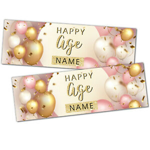 Happy Birthday Personalised Birthday Banners Celebration 2 Banners 3FT x 1FT