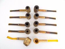 Mixed Vintage Lot of Used Corncob Tobacco Smoking Pipes Parts Mouthpieces Heads
