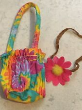 American Girl Doll Julie Tie Dyed Accessories Purse And Flower Headband NEW