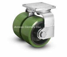 "295PY10509STRL 10"" Albion Polyurethane Dual Wheel Swivel Caster 6000 lb Capacity"