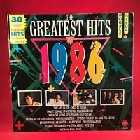 VARIOUS The Greatest Hits Of 1986 UK Double vinyl LP Excellent Condition