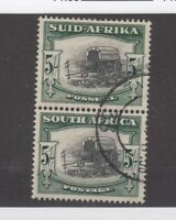 South Africa 1933 5/- Pair SG64 VFU JK2601