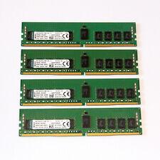 32GB (4x 8GB) Kingston DDR4 RAM - 2133 MHz / PC4 17000 - RDIMM Registered ECC