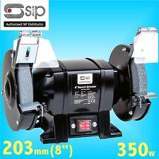 SIP 07557 Trade 203mm 8 Bench Grinder 240v grindstone grinding wheel steel bar